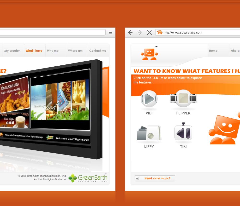 squareface website final design