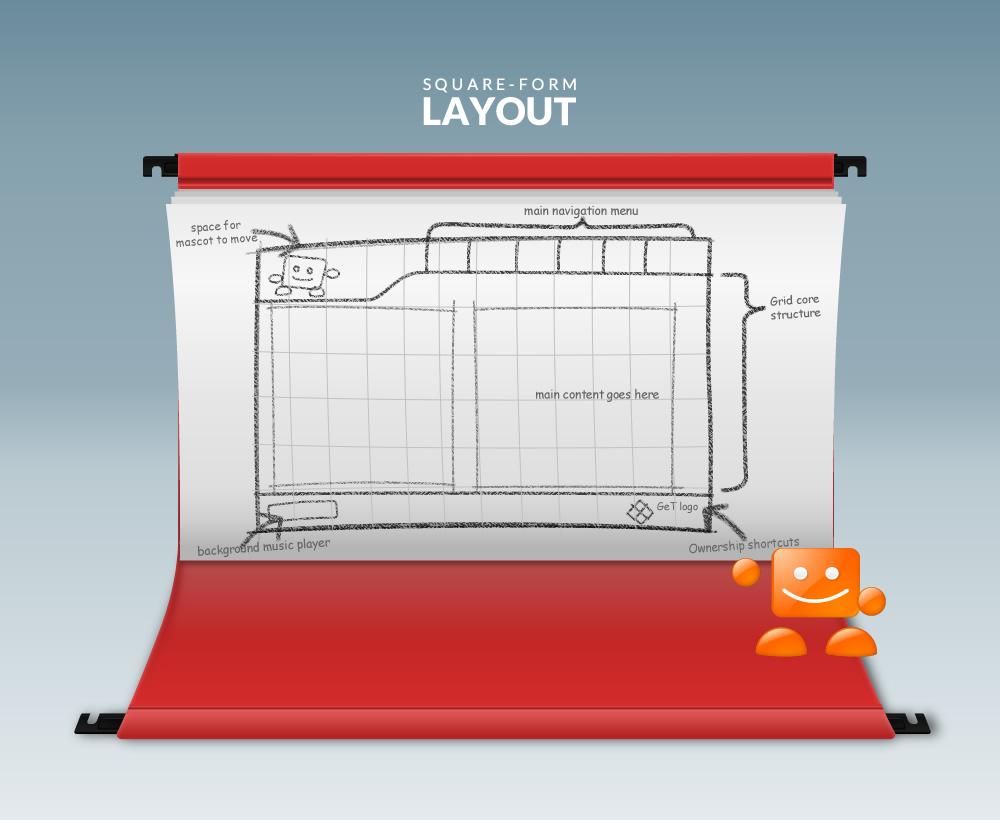 squareface website layout wireframe design