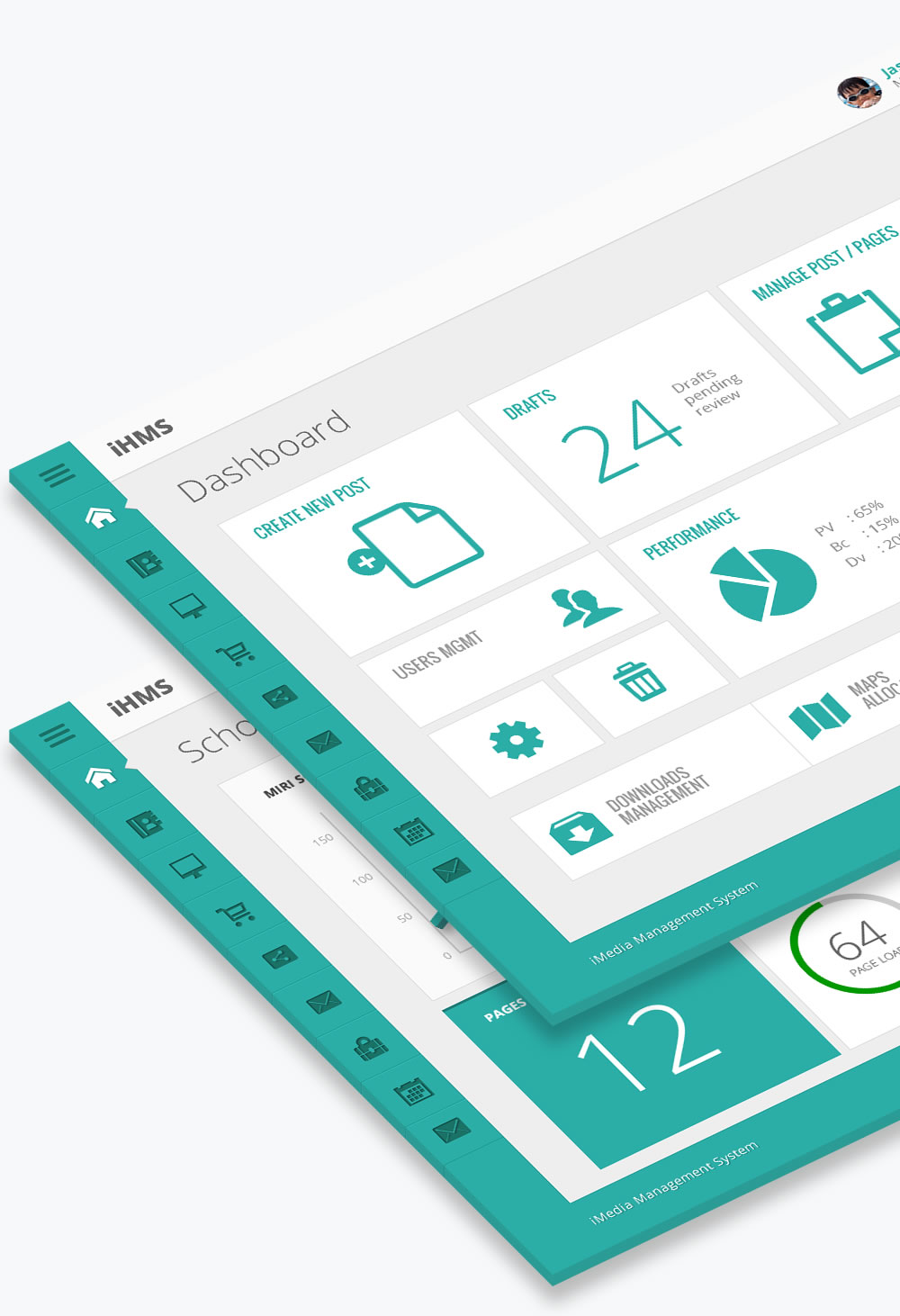 Metro Push Admin Dashboard User Interface Design by Jonath Lee