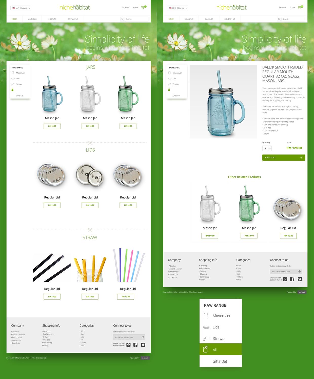 nichehabitat website layout design