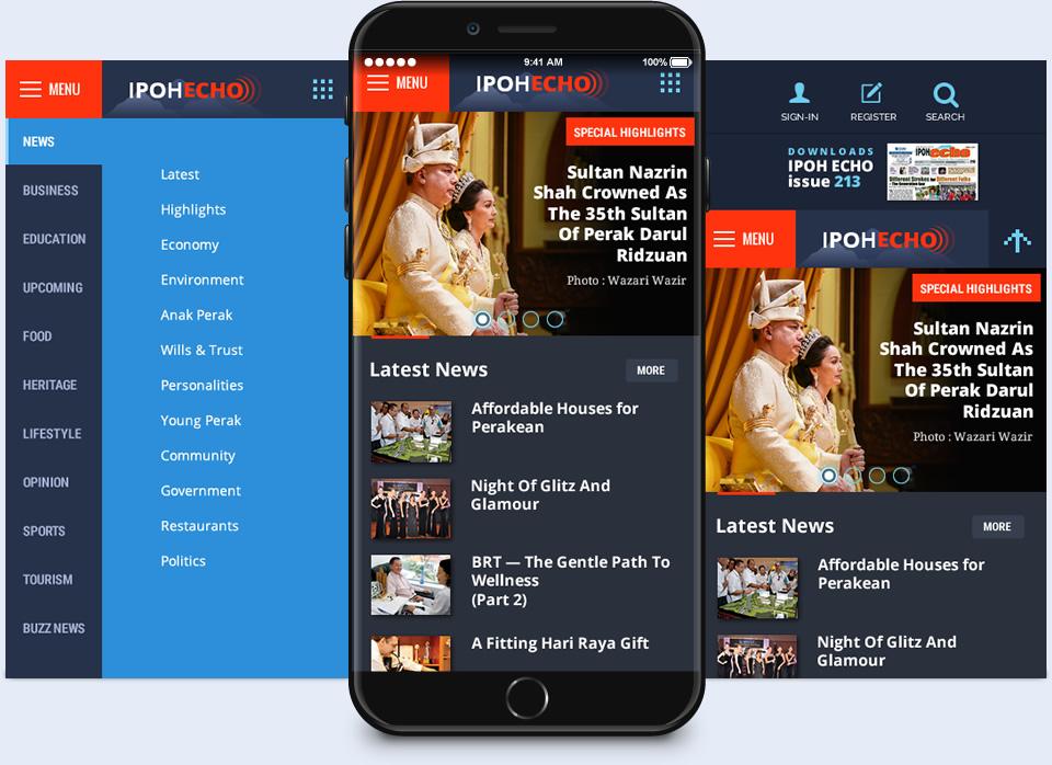 news app design Ipoh Echo