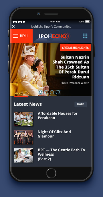 news portal design mobile phone