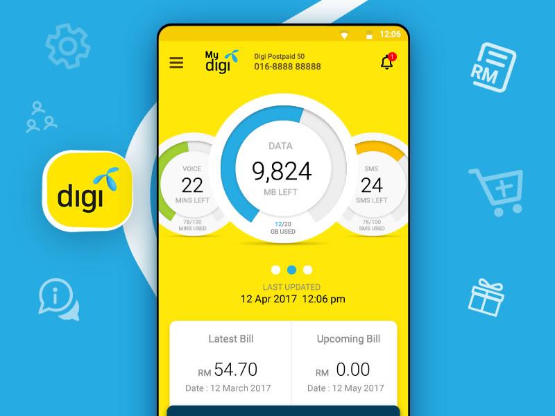 Mydigi Android App, digi telco, digi Malaysia