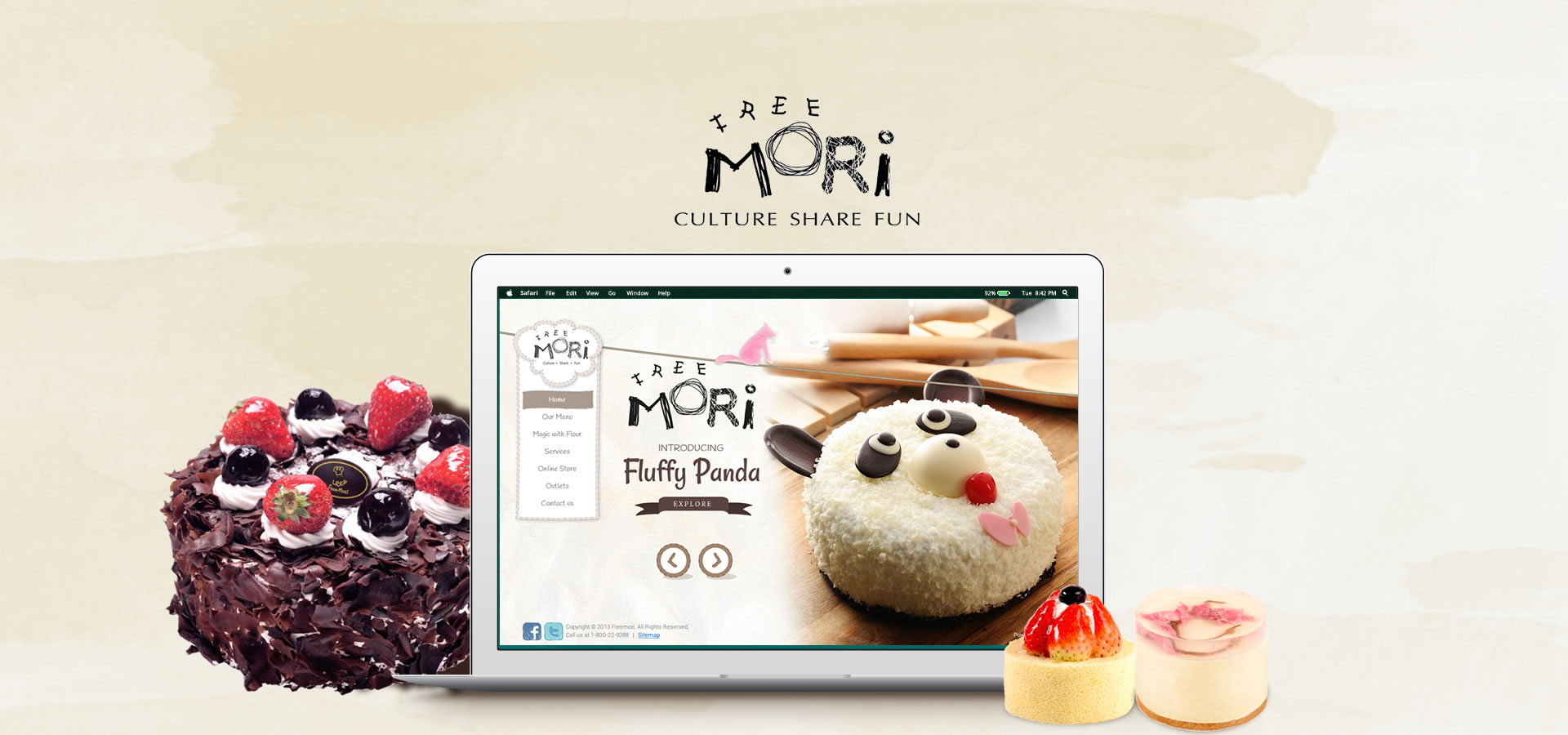 bakery website design for Freemori Malaysia