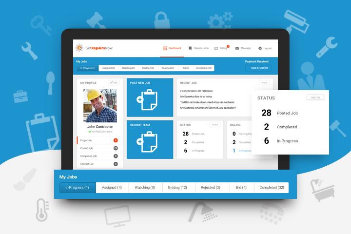GetRepairsnow user interface designer malaysia, User Interface Design Malaysia