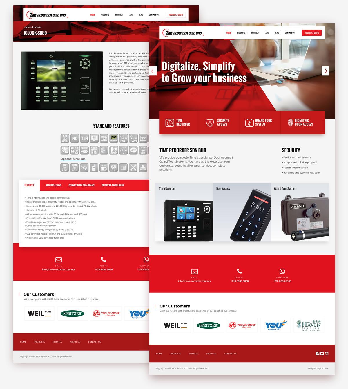 Stunning Red colored website design
