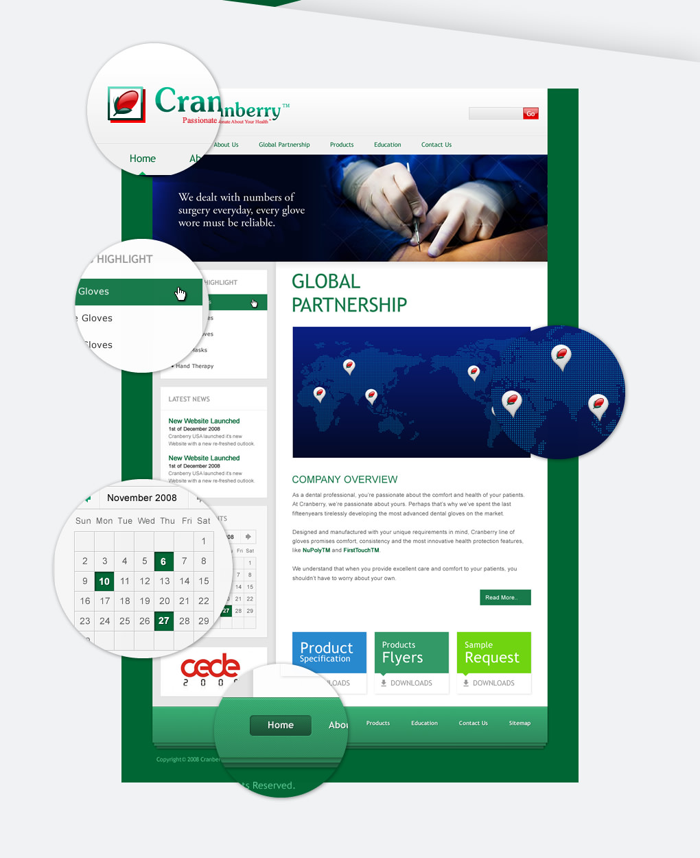cranberry website layout design