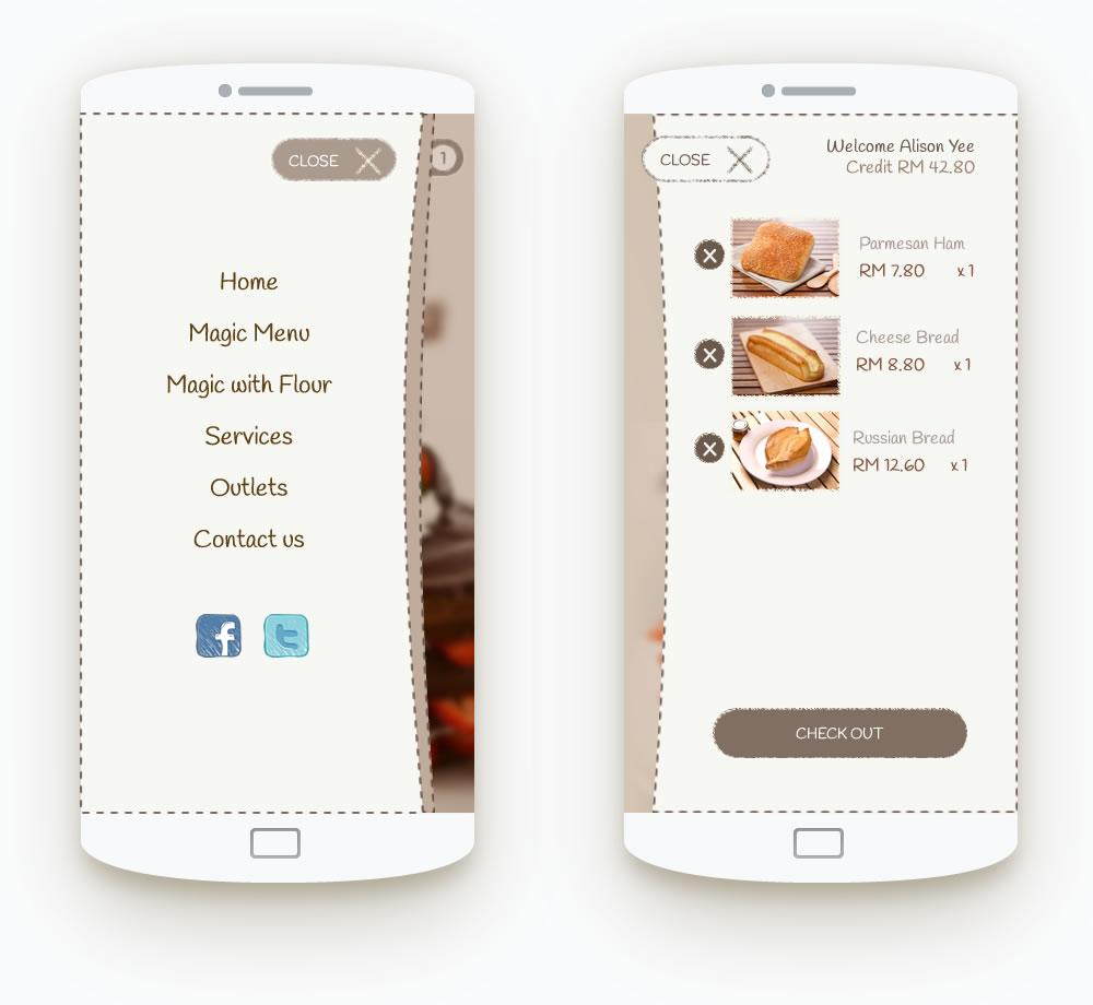 mobile navigation ui design