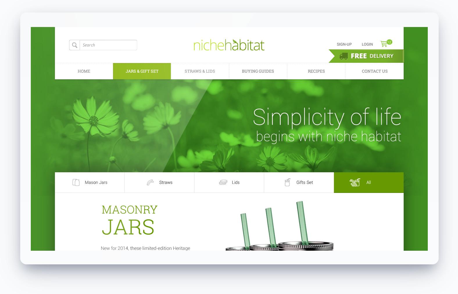 natural themed web design