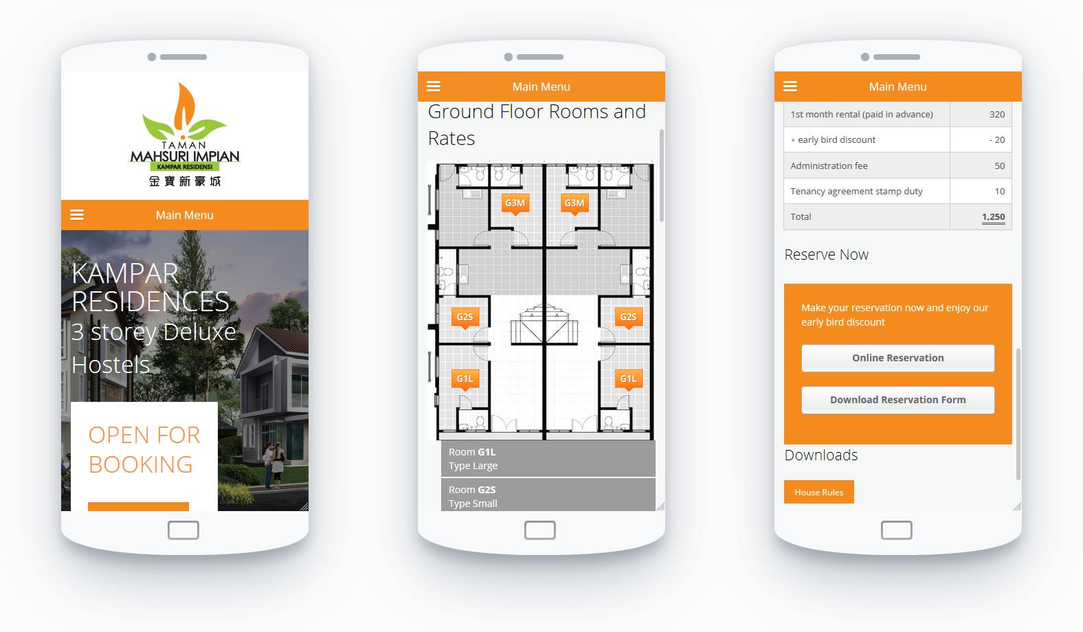 responsive web design Kampar