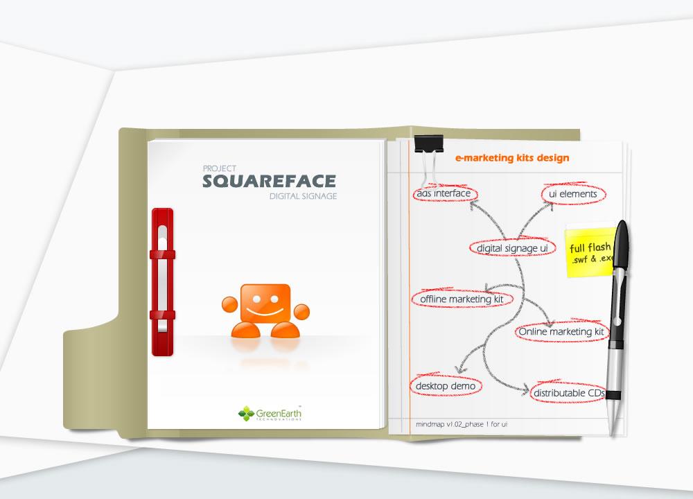 squareface website design project introduction