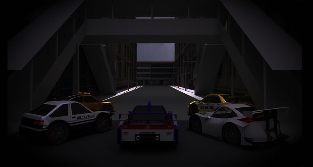 3d cars watching cinema hosted in vimeo