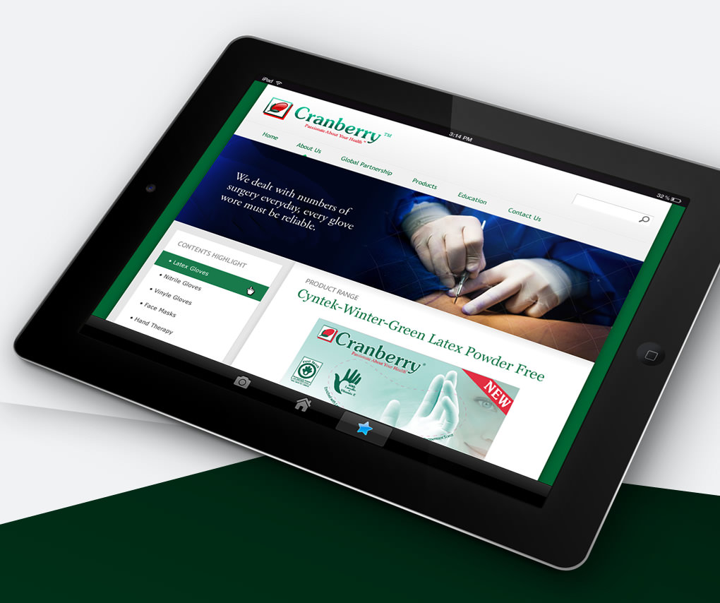 website design for touch