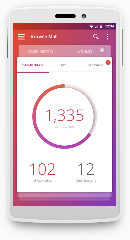 livemal dashboard ui design