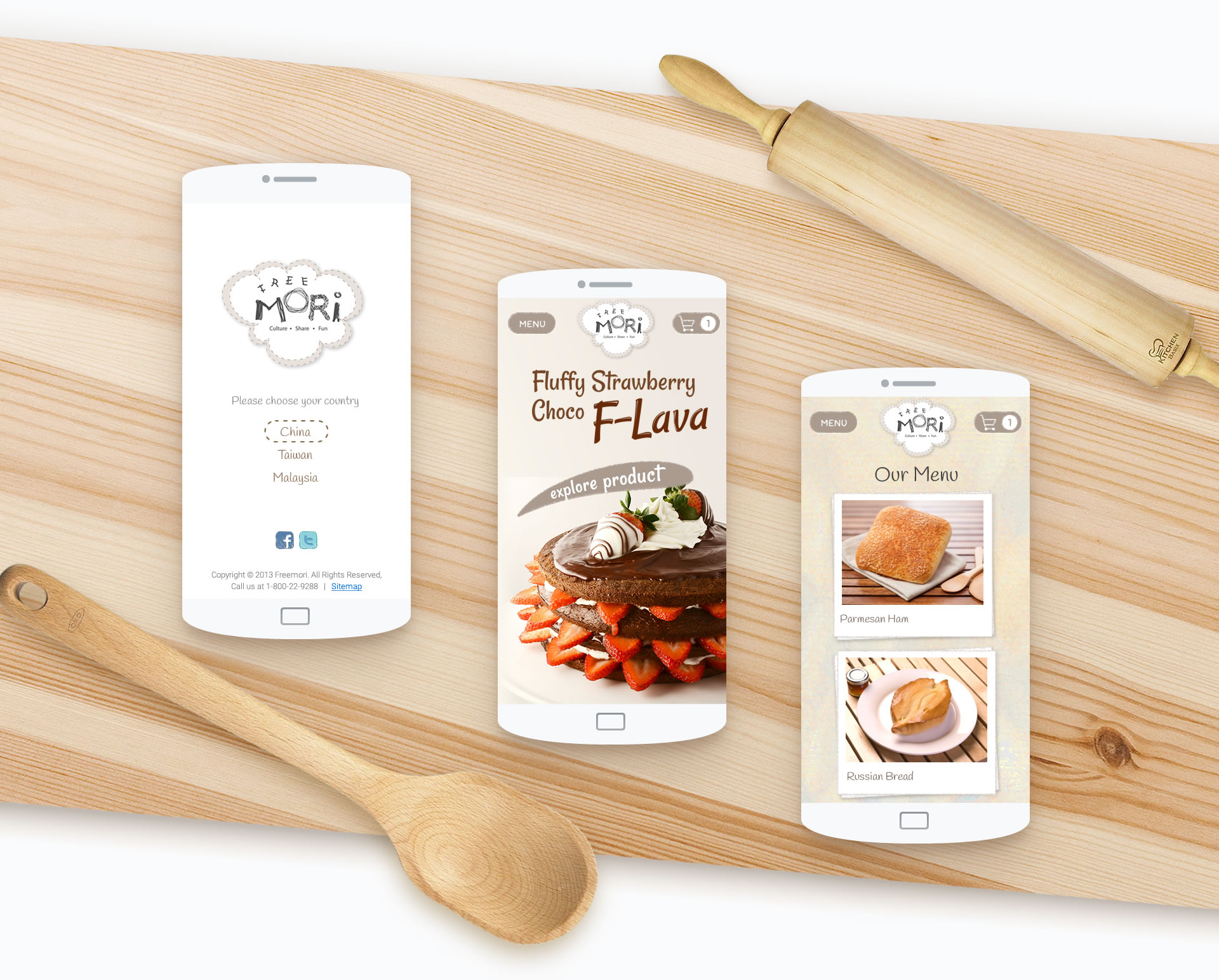 Bakery mobile app ui design
