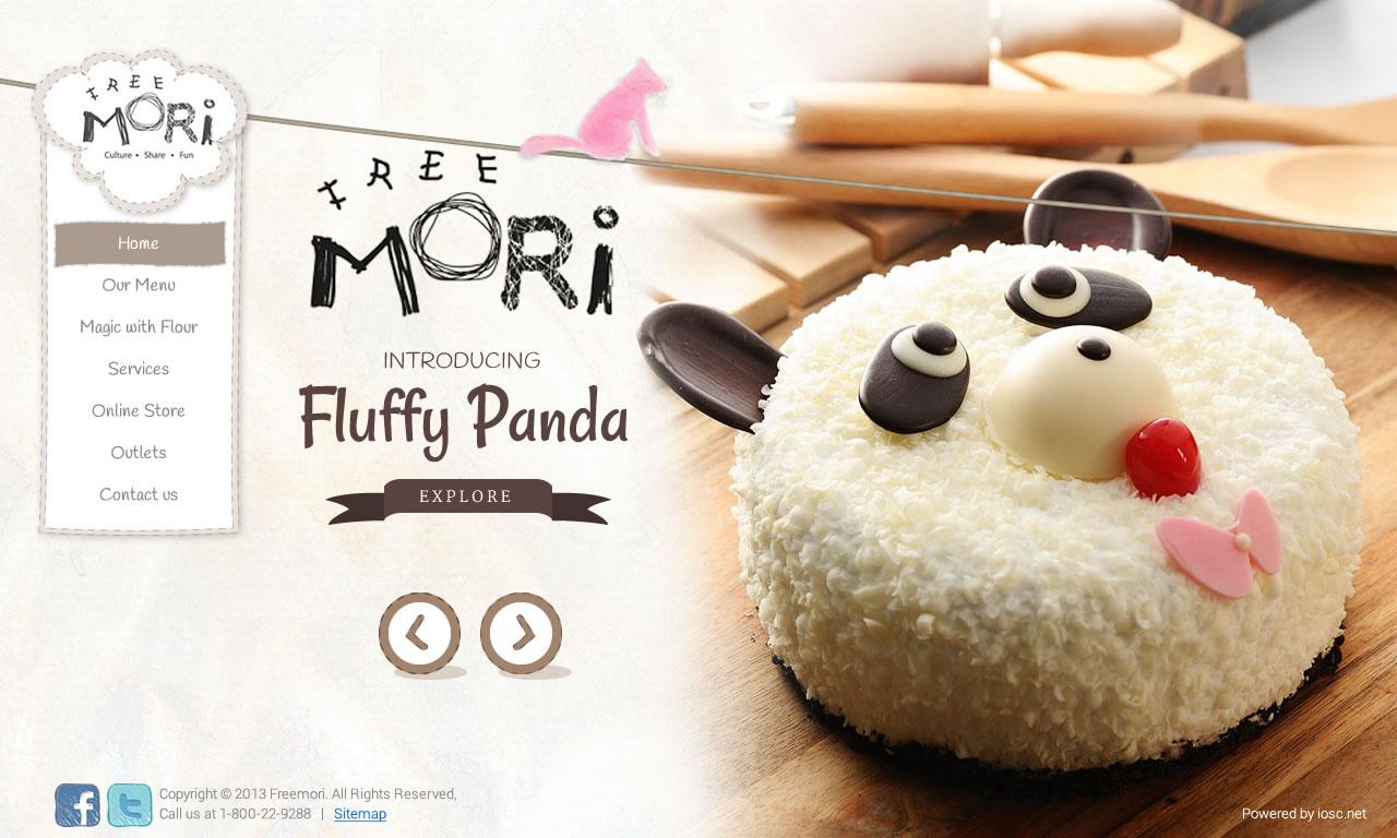 Free Mori Fluffy Panda Cake