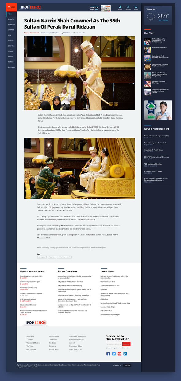 news home page design